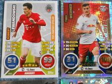 Match Attax Tradings Cards RAR Club 100 Werner, Lewandowski, Limit. Raffael Duo