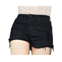 WAKEE BLACK SHORTS WITH RIPS AND FRAYED HEM. SIZE 6-16