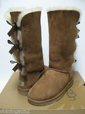 UGG BAILEY BOW WOMEN TALL BOOTS SUEDE CHESTNUT US 5 /UK 3.5 /EU 36 /JP 22