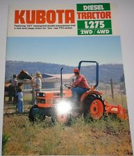 *Kubota L275 2WD and 4WD Diesel Tractor Sales Brochure literature advertising ad