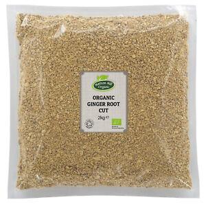 Organic Ginger Root Cut 2kg Certified Organic