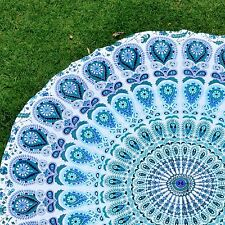 Beach And Picnic Towel Blanket Indian Round Mandala Tapestry Wall Hanging Throw