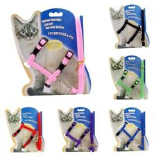 New Hot Cat Puppy Adjustable Harness Collar Nylon Leash Lead Safety Walking Rope