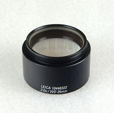 Microscopio Leica 2.0x lente del objetivo 10446322 WD 35 mm para todos los modelos S4, S6 & S8