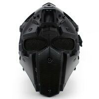 Wosport Full Face Adjustable Helmet Protective Obsidian Biscuits for Motorcycle
