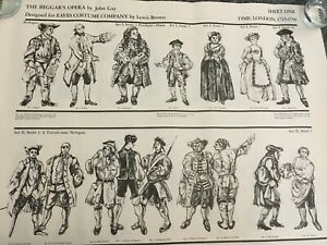 The Beggar's Opera John Gay Eaves Costume Company Lewis Brown 2 sheets