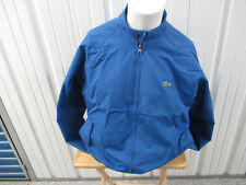 VINTAGE LACOSTE X IZOD ROYAL BLUE SEWN ZIP-UP LARGE JACKET 80s PREOWNED EXC