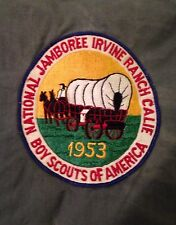 1953 National jamboree Back Patch. Still On Grey Jacket. This Was Only Way Get
