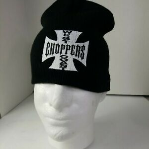 West Coast Choppers Beanie Hat Jesse James Black And White  NWOT Made in USA