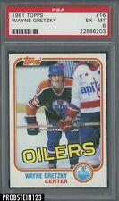 1981 Topps Hockey #16 Wayne Gretzky HOF Oilers PSA 6 EX-MT