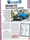 Citroën C6 1929 France Car Auto FICHE FRANCE