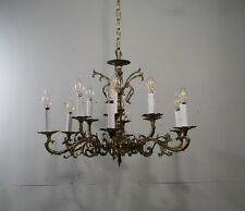 Antique Vintage Bronze 12 Light Chandelier 2 Tiers Ceiling Fixture Lamp