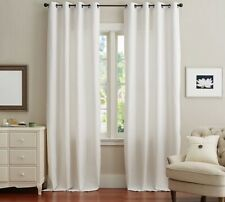 Pottery Barn Emery Linen Grommet Blackout Drapes, White, Size 50x84, 2 Panels