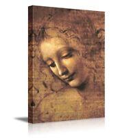 "wall26 - The Head of a Woman by Leonardo Da Vinci - Canvas Wall Art - 16"" x 24"""