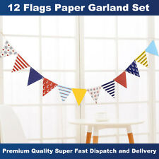 Hot Sale! Marine Paper Flags Garland Bunting Banner Celebration Party Decoration