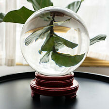 200MM Clear Glass Crystal Ball Healing Sphere Photography Props Lensball Decor