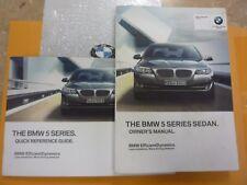 2012 BMW 5 SERIES SEDAN   OWNERS MANUAL