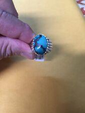 Navajo Mens Tibetan Turquoise Ring Ray Jack Sz 12 Native American Stunning Nice!