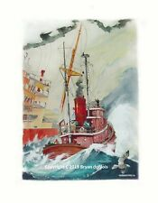 """""""Rescue At Sea"""" Original Signed and Numbered Print by Artist. Giclee"""