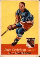 1957-58 Topps 1957-58 Topps #66 Dave Creighton NY RANGERS GVG 400505