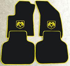 Autoteppich Fußmatten für Dodge Journey schwarz gelb gelb ab 2008 4teilig Neu