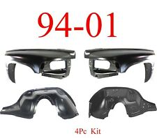 94 01 Dodge Ram 4Pc Inner & Outer Fender Assembly Kit, Truck 1500, 2500, 3500