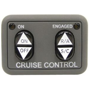 250-3592 ROSTRA / UNIVERSAL DASH MOUNT CRUISE CONTROL SWITCH (OPEN CIRCUIT) NEW