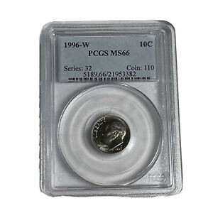 Estate Purchased Better Date 1996 West Point Roosevelt Dime PCGS MS66