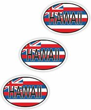 Nationalitätenkennzeichen 3x Hawaii Aufkleber Autoaufkleber Moto