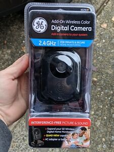 NEW GE Add On Accessory Wireless Color Digital Camera 2.4GHz FAST FEDEX2DAY SHIP