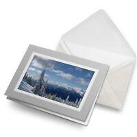Greetings Card (Grey) - Snowy Forest Scene Snow Winter  #8084