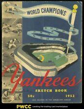 1952 Team Signed Yankees Program w/ Mickey Mantle & Joe DiMaggio, PSA/DNA LOA