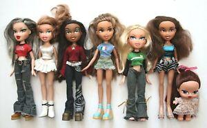 BRATZ Bundle Joblot 2001 - 7 Fashion Dolls inc. Baby + Sledge, Clothes & Shoes
