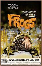 Frogs 1972 Eco-Horror Film Vintage Poster Print Retro Style Art Movie Wall Decor