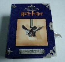 Harry Potter Hedwig Owl Figure Hallmark Ornament Vintage 2000 Nib Pewter