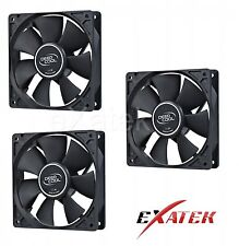 3 x Deepcool XFAN120 Silent 120mm Hydro Bearing Case Fan 28db 4-pin Molex