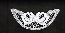 Venise Black lace applique Roses Satin Craft Scrap  Crafts Quilts $ 3pcs #2359