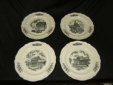 Wedgwood Federal City Plates 10-1/2in Diameter Set of 4 Vintage China