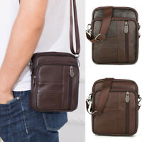 Men Leather Small Satchel Crossbody Bag Messenger Shoulder Bags Small Handbag