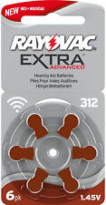 6 x Rayovac hörgerätebatterien 312 extra Advanced 180 mah l1888 r9.6 B-Ware
