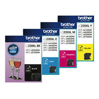 GENUINE Original Brother LC235XL LC239XL 4 Colours Value Pack Ink Cartridge