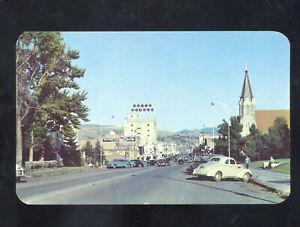 BOZEMAN MONTANA DOWNTOWN STREET SCENE OLD CARS VINTAGE POSTCARD