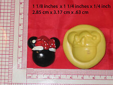 Christmas mickey mouse silicone Mold #56 For Chocolate Candy Resin Fimo Fondant