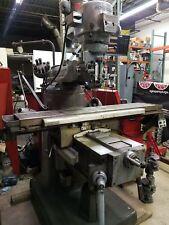 Used Bridgeport Series 2 Ii Vertical Mill Machine Machining Dro Power Feed 2hp
