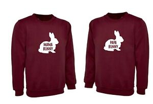 Family Funny Easter Sweatshirt Jumper Gift for Mama Papa Bunny Borther Sister