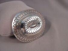 Navajo Handmade Sterling Silver Belt Buckle by Carson Blackgoat