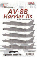 Ms481228/SUPER SCALE DECALS-av-8b Harrier IIS-hmm 163-Uss Peleliu - 1/48