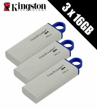 3 x Kingston Technology 16GB DataTraveler USB 3.0 Drives (Multipack of 3 x DTIG4