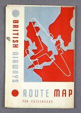 More details for british airways route maps july 1938 prewar paris hamburg copenhagen stockholm