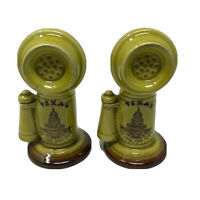 Vintage Souvenir Texas Salt And Pepper Shaker Vintage Phone Japan Pottery
